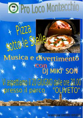 pizza sotto le stelle