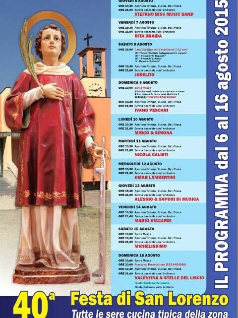 programma festa di san lorenzo