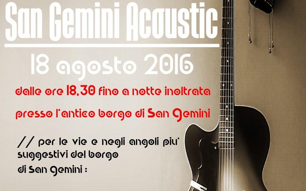 san gemini acoustic