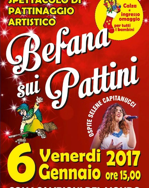 befana sui pattini