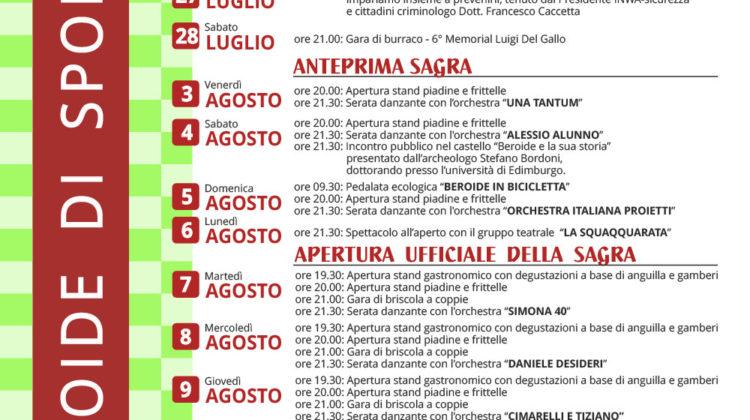 sagra-dellanguilla-beroide-programma-2018