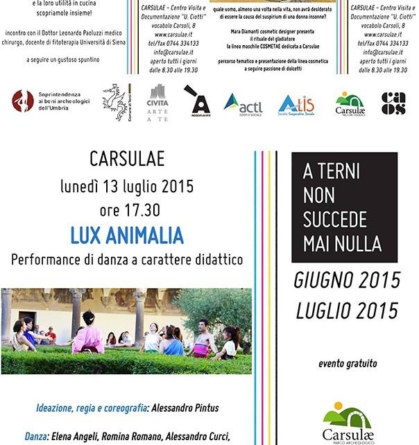 Locandine 11-12-13 luglio 2015 Carsulae
